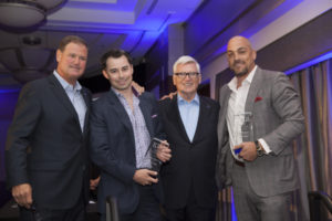 "Chad Hall, Erik Davis ""Brokers of the Year 2013"" with Tim Turner & Pat Ryan"