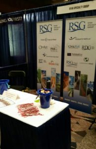 RSG's booth at the 2015 MIIAB Convention